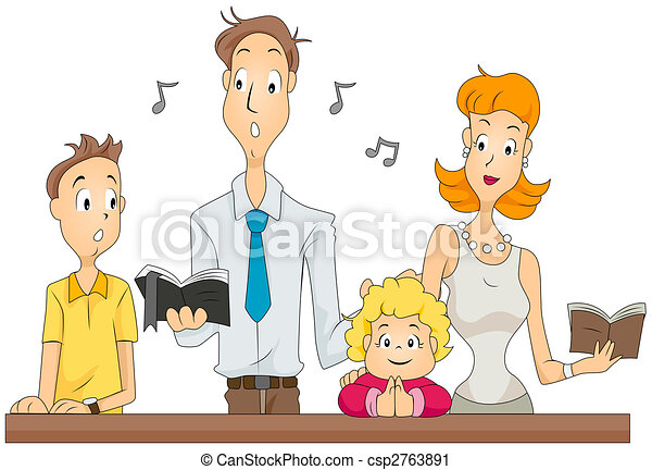 family mass family attending masswith clipping path rh canstockphoto com mass clipart png family masks clipart