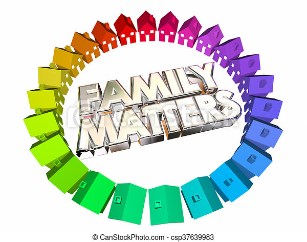 Family Matters People Relatives Relationships 3d Illustration - csp37639983
