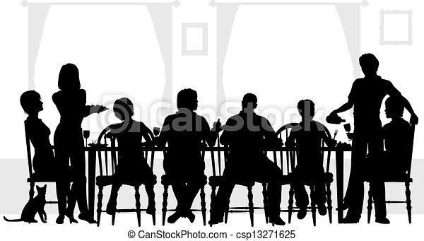 Family meal - csp13271625