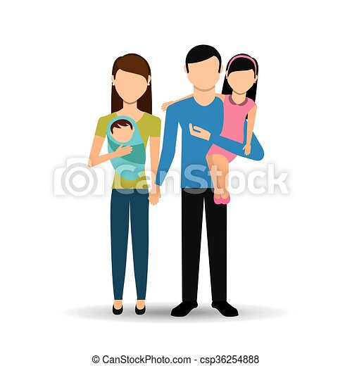 family members design - csp36254888