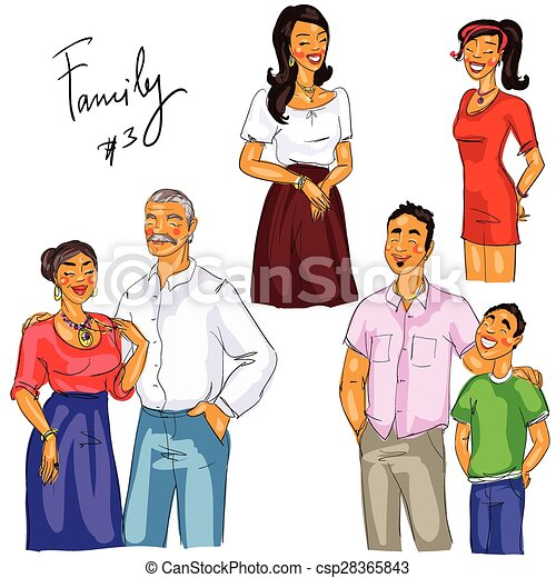 multi generation family members isolated set 3 eps vector search rh canstockphoto ie