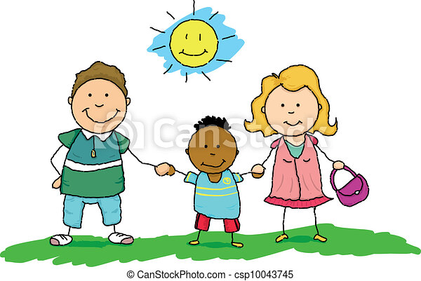 family of adoption two parents adopt an african orphan eps vector rh canstockphoto com child adoption clipart animal adoption clipart