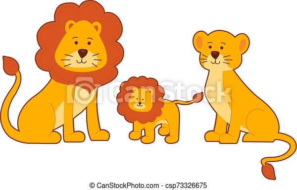 Lion and Lioness Clip Art