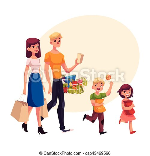 family of father mother daughter and son shopping clip art rh canstockphoto com father clip art free feather clipart