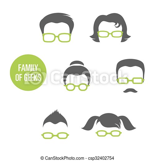 Family Of Geeks - csp32402754