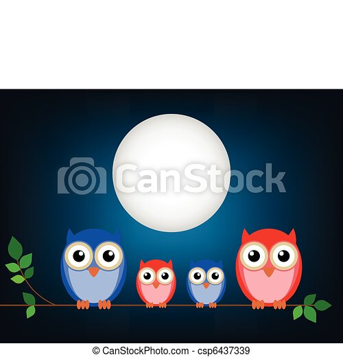 Family of owls - csp6437339