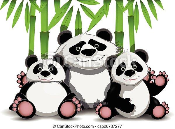 Family of pandas - csp26737277