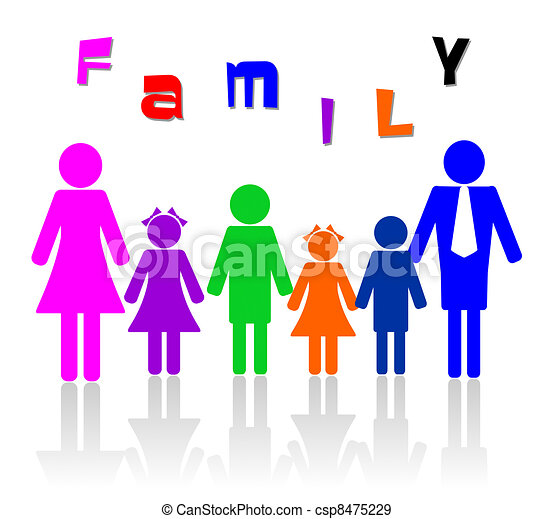 Family of six members - csp8475229