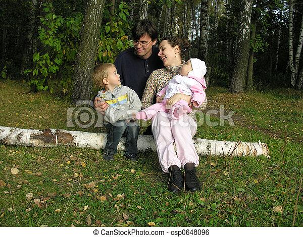 family on birch.  - csp0648096