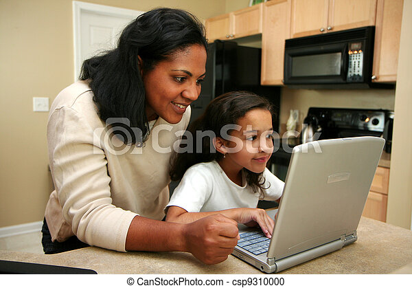 Family on Computer - csp9310000