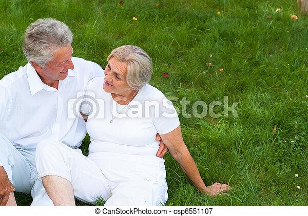 family on grass - csp6551107