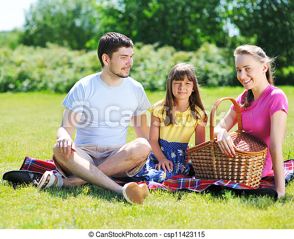 Family on picnic - csp11423115