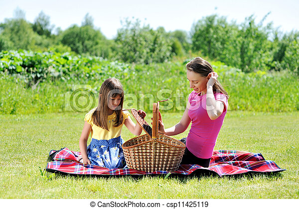 Family on picnic - csp11425119