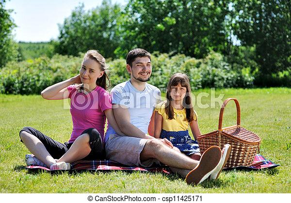 Family on picnic - csp11425171