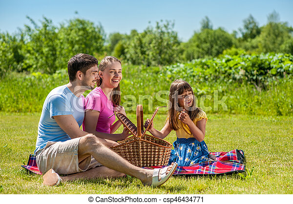 Family on picnic - csp46434771