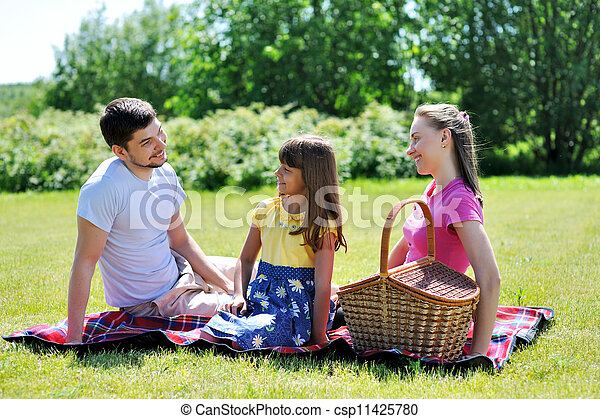 Family on picnic - csp11425780
