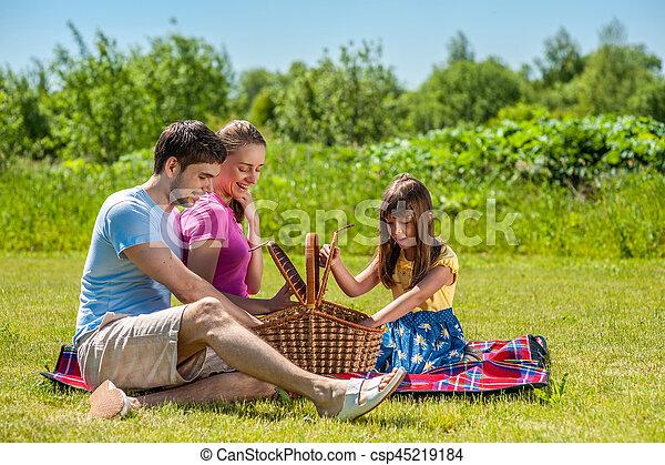 Family on picnic - csp45219184