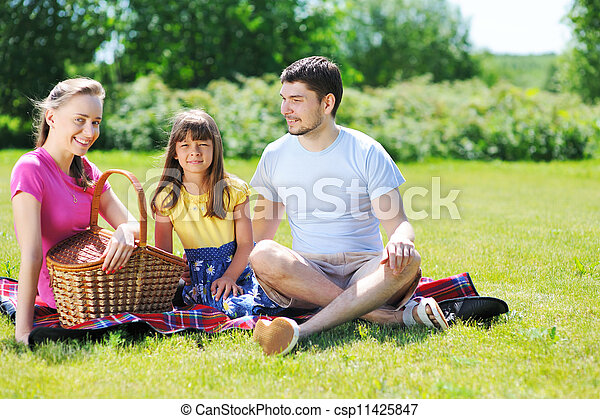 Family on picnic - csp11425847