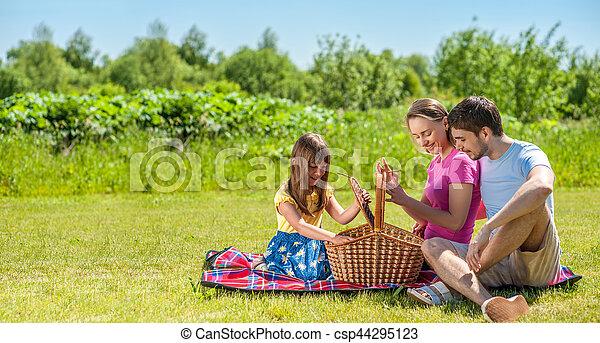 Family on picnic - csp44295123
