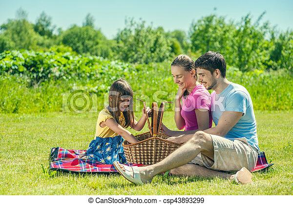 Family on picnic - csp43893299
