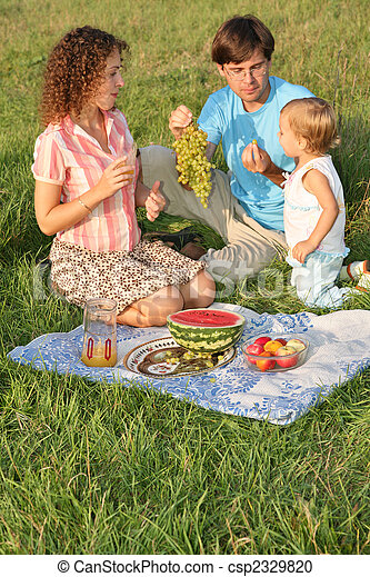 family on picnic - csp2329820