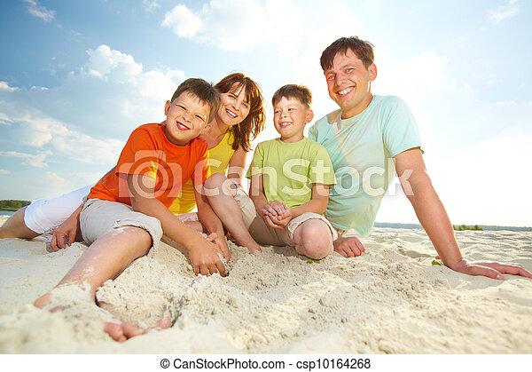 Family on resort - csp10164268