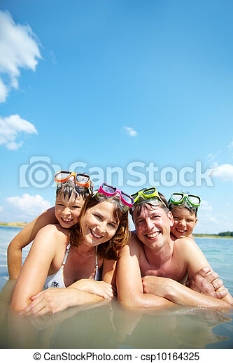 Family on resort - csp10164325