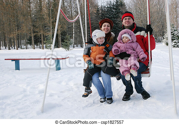 family on seesaw - csp1827557