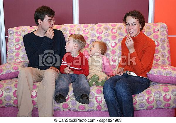 family on sofa - csp1824903