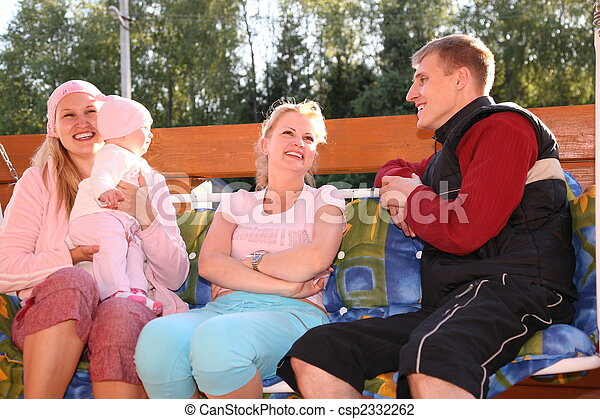 family on the bench - csp2332262