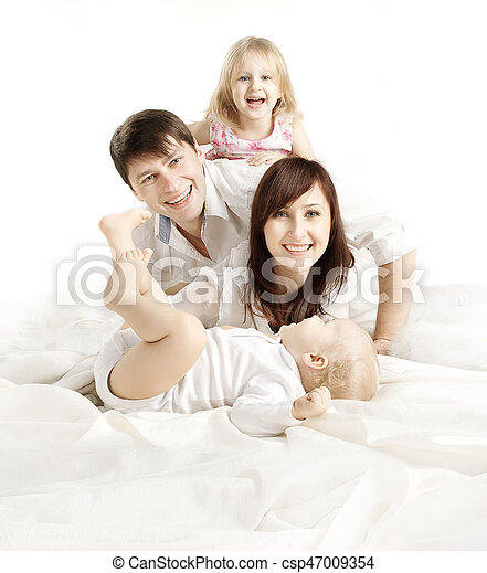 Family over white background happy parents with children father family over white background happy parents with children father mother kid and baby four people stock photo thecheapjerseys Image collections