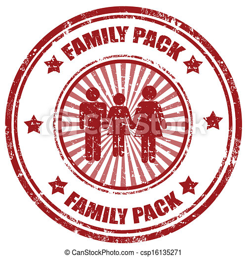 family pack stamp grunge rubber stamp with text family pack vector