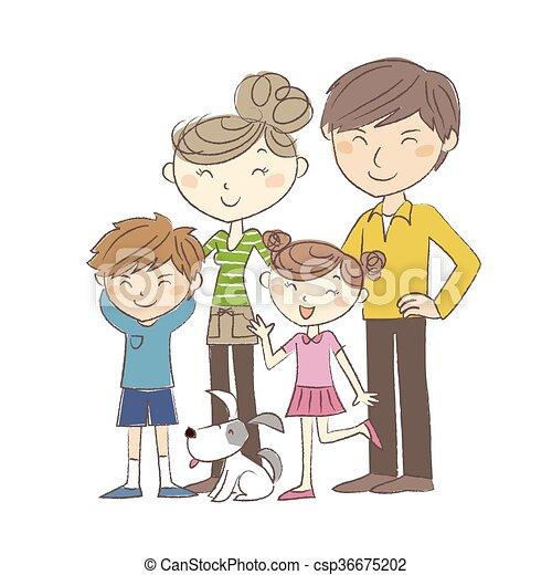 Family, parents and children - csp36675202