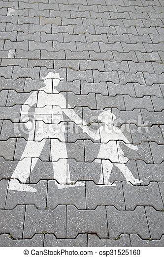 Family Pedestrian Sign - csp31525160