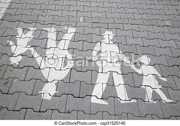 Family Pedestrian Sign - csp31525140