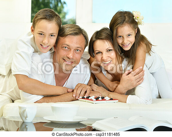 family playing  at home - csp31181485