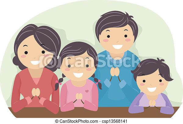 Family Praying - csp13568141