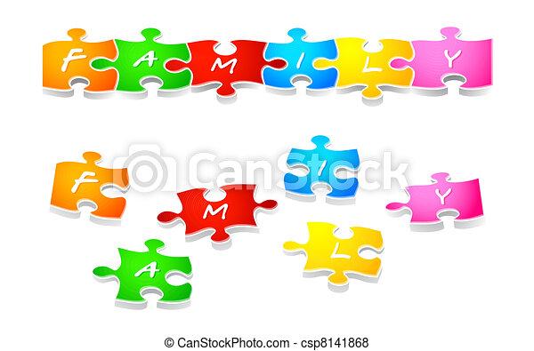 Family puzzle - csp8141868