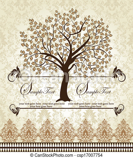 Family Reunion Invitation Card Floral Invitation Card With