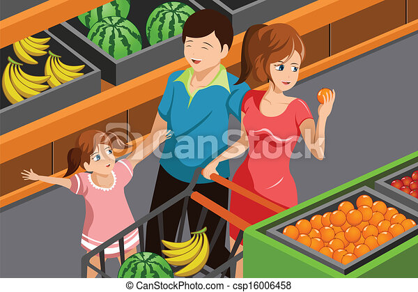 Family shopping grocery - csp16006458