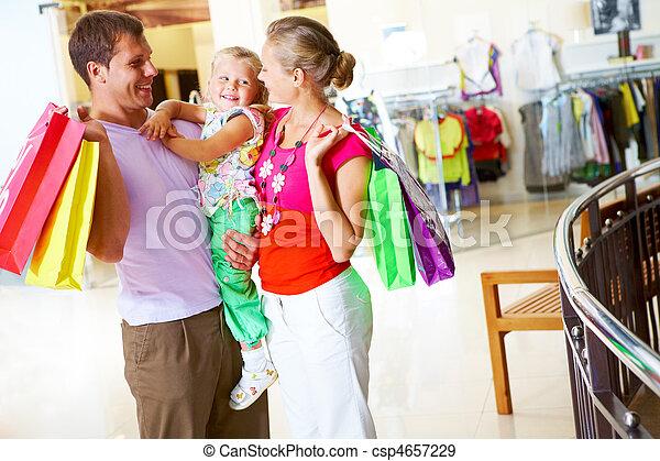 Family shopping - csp4657229