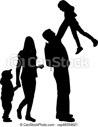family silhouette vector illustration search clipart drawings rh canstockphoto com family silhouette vector free family tree silhouette vector
