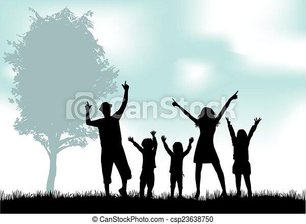 Family silhouettes - csp23638750