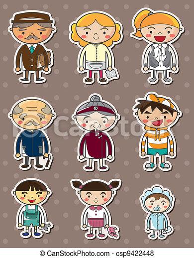 family stickers - csp9422448