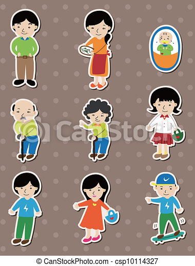 family stickers - csp10114327