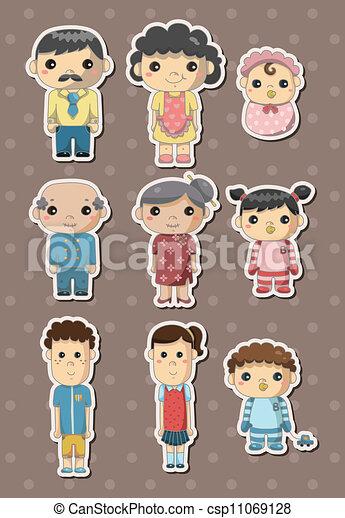 family stickers - csp11069128