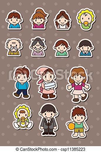 family stickers - csp11385223