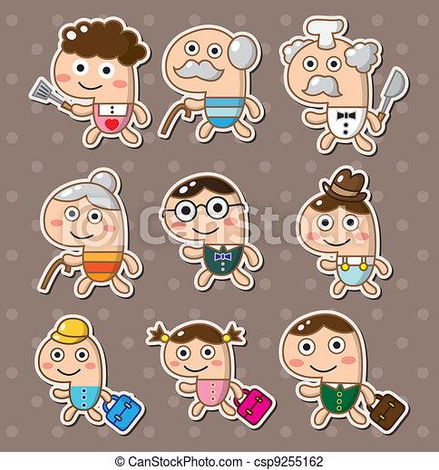 family stickers - csp9255162