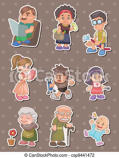family stickers - csp9441472