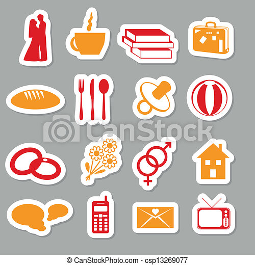 family stickers - csp13269077